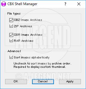 CBXShell設定画面